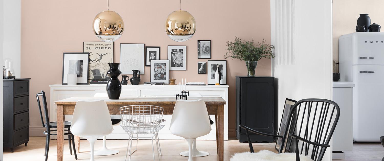 peinture mur rose - velours
